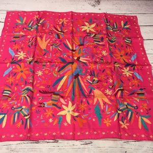 NWOT Colorful silk scarf